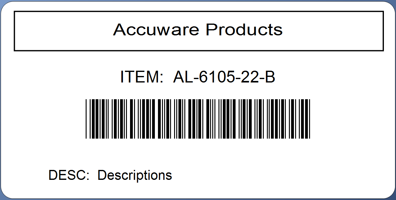 Label Connector Online Accuware - 4x2 label template