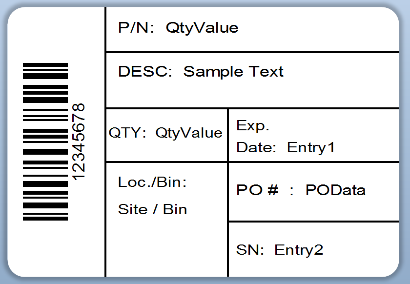 QuickBooks Label Connector Example Labels – Product Label Sample