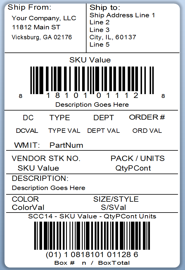 quickbooks label connector example labels